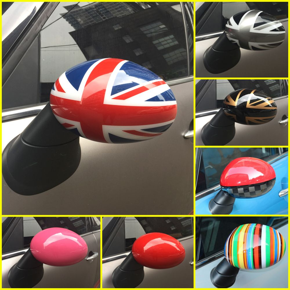 2pcs Union Jack Door Rear View Mirror Covers Stickers Car-styling Decoration For BMW Mini Cooper One S JCW F56 F55 Accessories