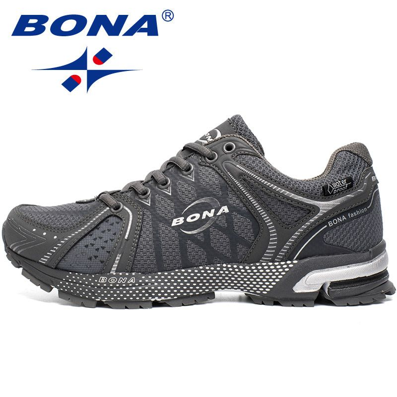BONA New Waterproof Style Men Running Shoes Outdoor Jogging Walking Sneakers Lace Up Athletic Shoes Comfortable Free Shipping