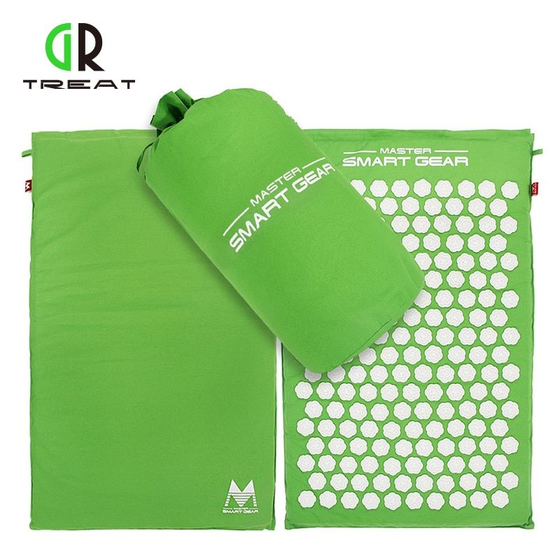 Lotus Acupuncture Mat Massage Yoga Mats Fitness Massage Cushion Acupuncture Massage Mat Acupressure Mat and Pillow Set