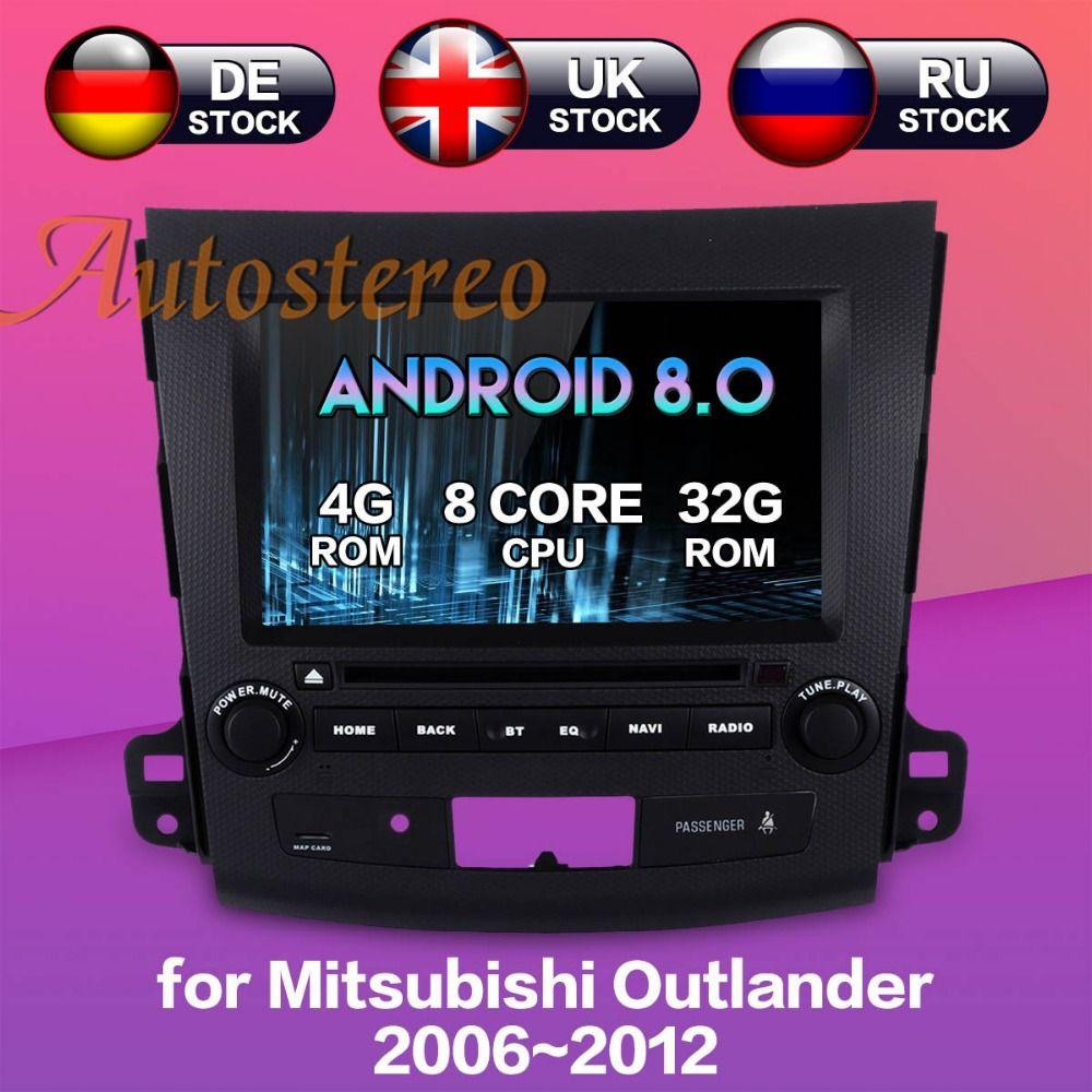 Neueste Android8.0 7,1 Auto DVD player GPS Navigation für Mitsubishi Outlander 2006 ~ 2012 Für Citroen C-Crosser für peugeot 4007