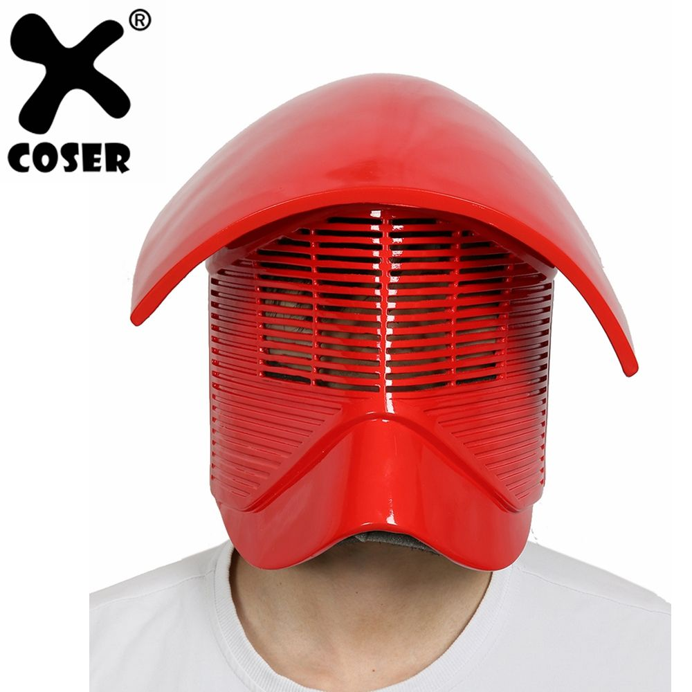XCOSER Star Wars Episode VIII: The Last Jedi Cosplay Snoke Red Resin Full Head Helmet Halloween Full Face Mask Cosplay Props