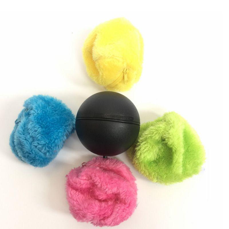 1 ensemble Automatique Rolling Vide De Balayage de Plancher Robot Nettoyeur Ballon Microfibre De Nettoyage Avec 4 Pcs Coloré De Nettoyage Couvre Ensemble CHAUDE