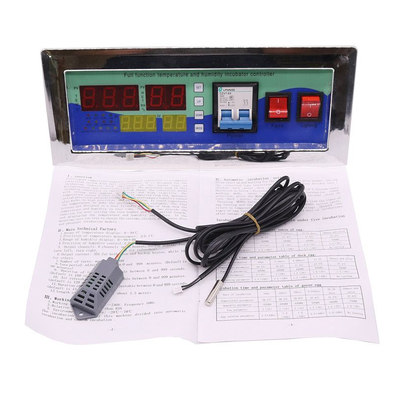1 Set Household Incubator Controller Of Modern Incubators Accessories Automation Controller With Temperature And Humidity Probe