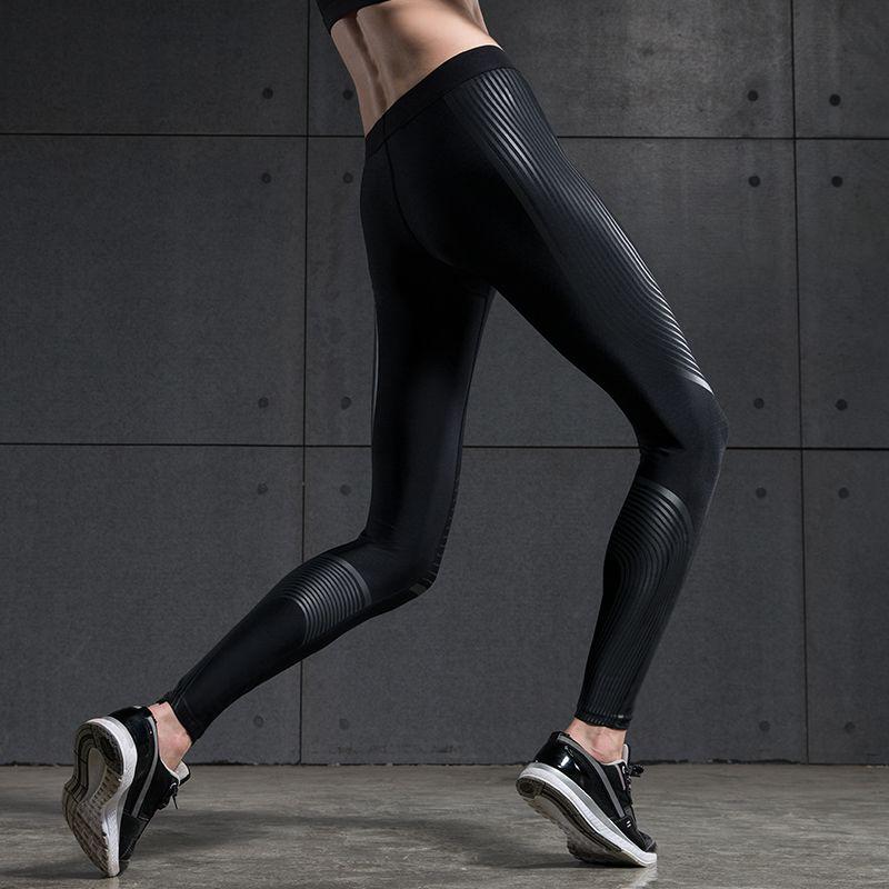 BINAND Femmes Taille Basse Puissance De Compression Courir Tight Vitesse Pantalon Haute-stretch Vêtements De Sport De Réflexion De Yoga Jogging Leggings