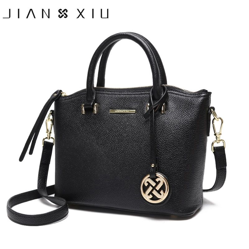 JIANXIU Brand Genuine Leather Handbag Female Casual Leather Tote Top-handle Bag Large Shoulder Bag For Women Messenger Bags 2017