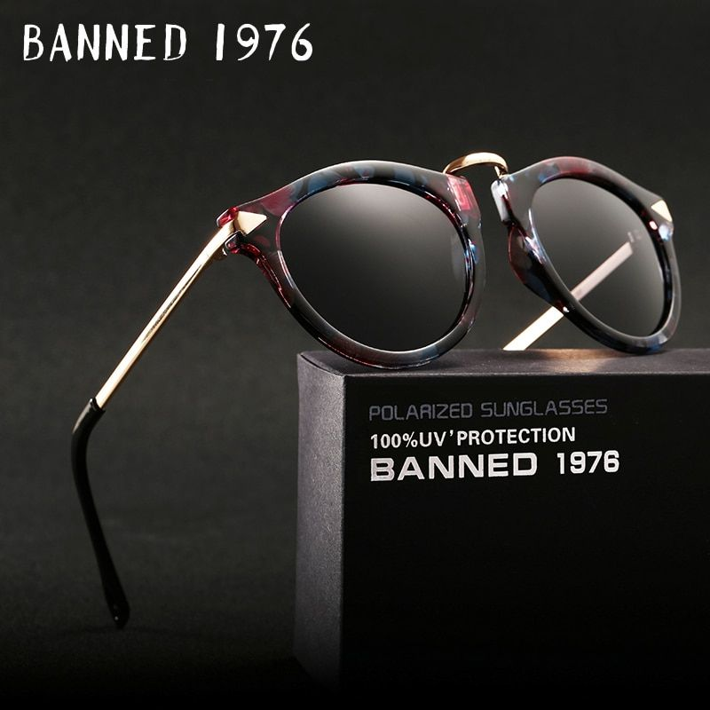 BANNED polarized Sunglasses for women fashion vintage cool driving feminin sun Glasses vintage with original brand box hot sell