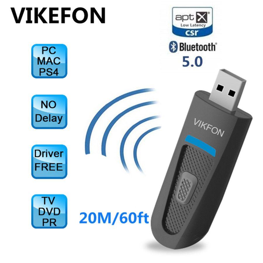 AptX faible latence longue portée Bluetooth 5.0 transmetteur pour TV sans fil USB/3.5mm AUX/2 RCA adaptateur Audio pour PS4 PC