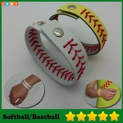 2016 Softball/Baseball Bracelets Leather Seamed Lace Stitching  Bracelet
