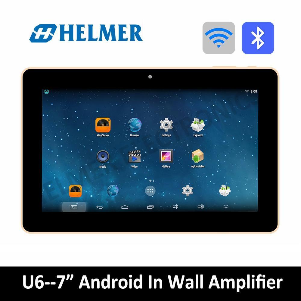 Helmer 7 zoll touch screen android verstärker, wireless home audio verstärker, bluetooth digital stereo verstärker, WIFI home theater