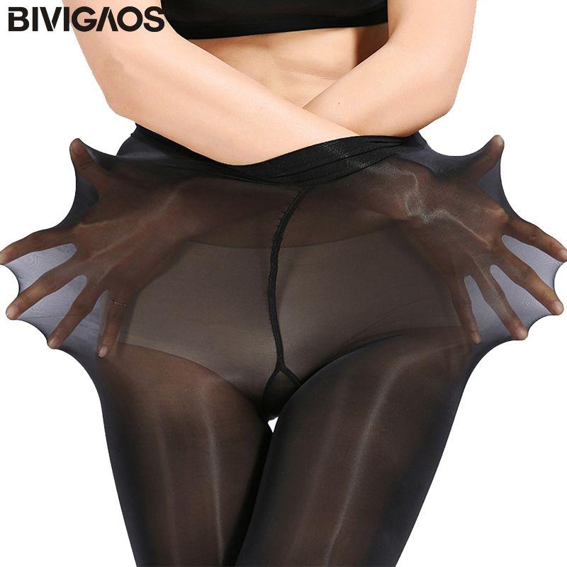 BIVIGAOS Upgraded Super Elastische Magische Strumpfhosen Silk Strümpfe Dünne Beine Collant Sexy Strumpfhosen Verhindert Haken Seide Medias Frauen