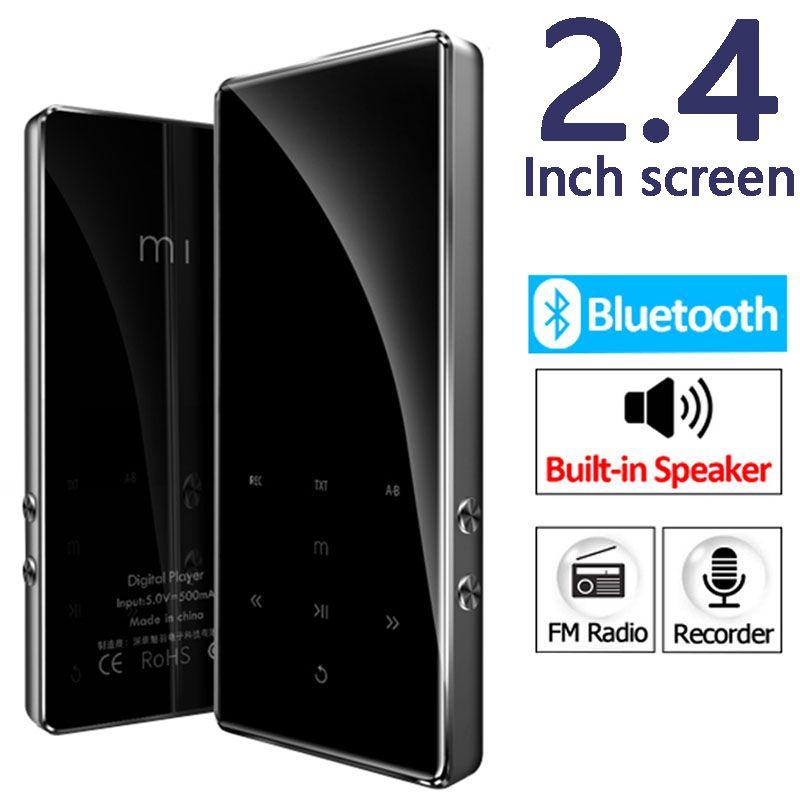 Metall HIFI Mp4 Player 2,4 inch screen Bluetooth 4,2 Verlustfreie Musik Mini MP3 Tragbare Audio-Player FM Radio E-buch video