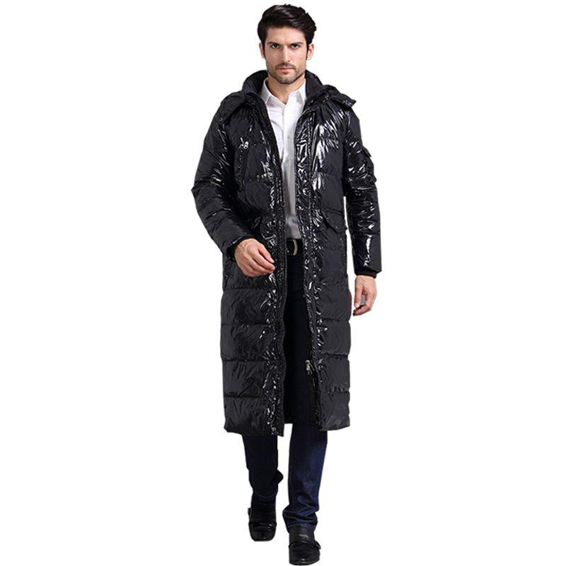 Luxus designer maß 90% weiße ente X-Lange casual unten jacke winter männlichen jacken warme dicke daunen jacken mantel für männer