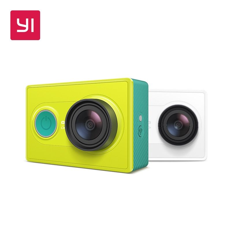 YI Action Camera 1080P Lime Green White Black 16MP Full HD 155 degree Ultra-wide Angle Sports Mini Camera