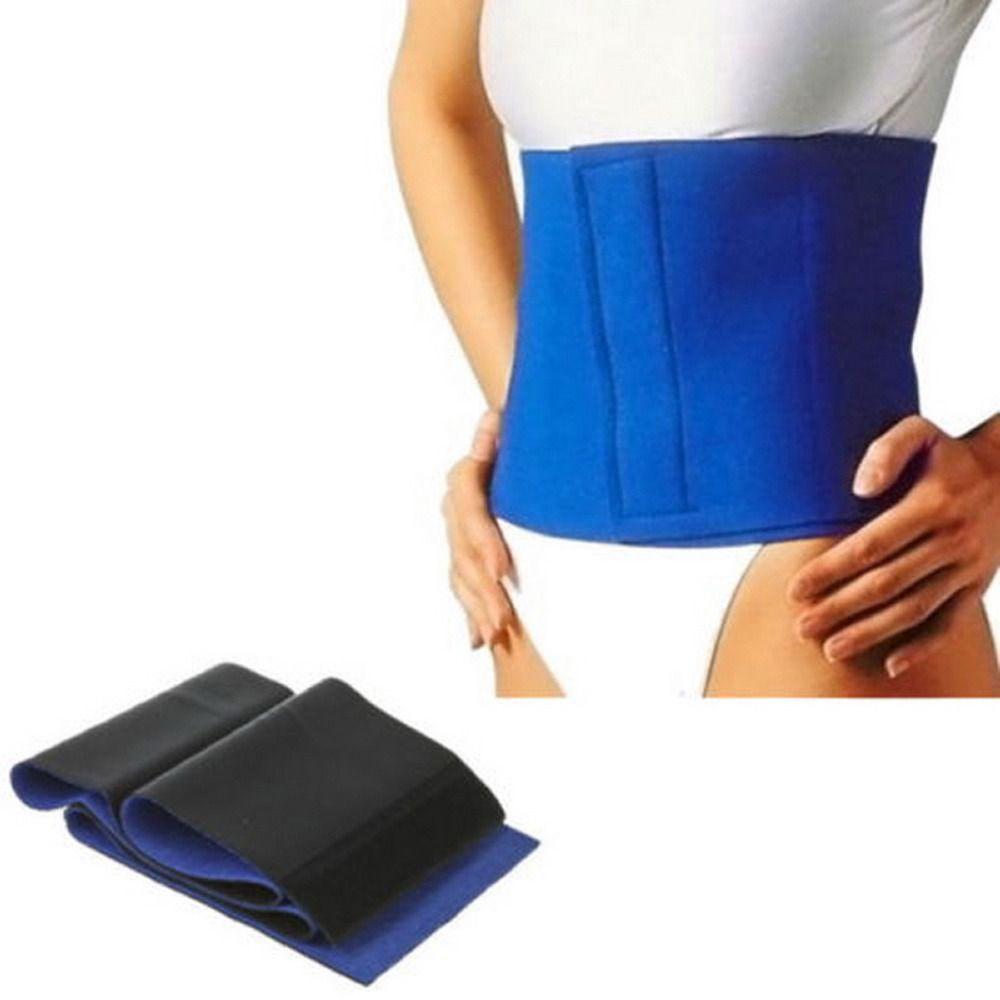 Schlankheits Übung Taille Schweiß Gürtel Wickeln Fett Körper Neopren Cellulite kostenloser versand