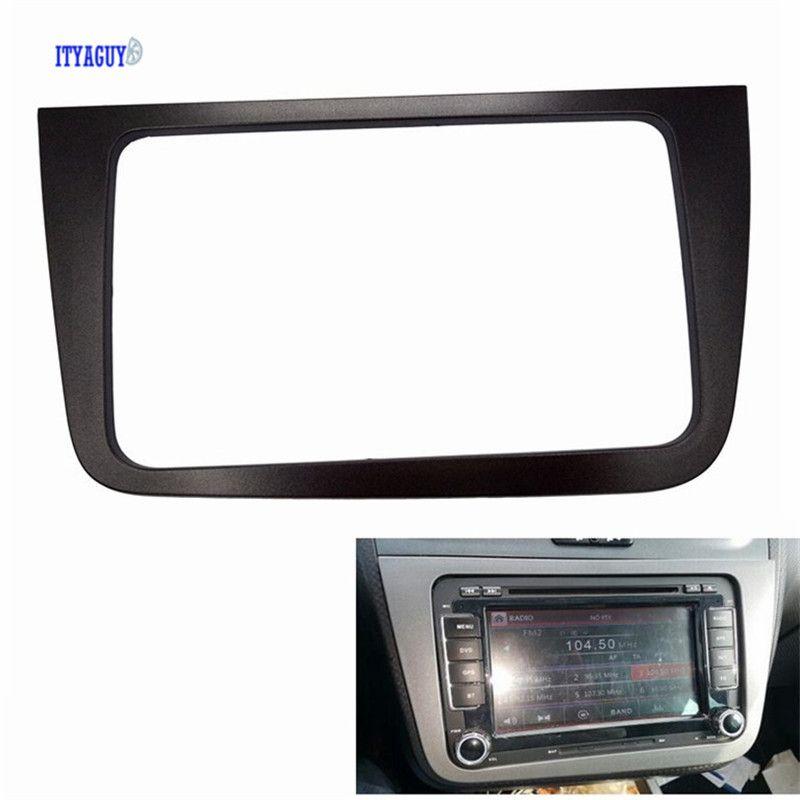 2 din Car Radio Fascia for SEAT Altea stereo face plate frame panel dash mount kit adapter trim Bezel facia