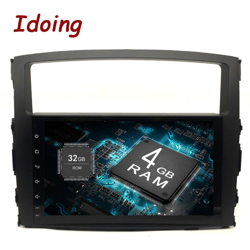 Idoing 9Android 8.0 4G+32G 8Core <font><b>2Din</b></font> Steering-Wheel For MITSUBISHI PAJERO V97 Car Multimedia Player Fast Boot GPS+Glonass TV