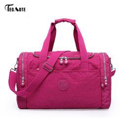 Tegaote mujer Bolsas de viaje 2017 moda de gran capacidad de equipaje impermeable duffle bag casual Totes gran fin de semana viaje bolsa turística