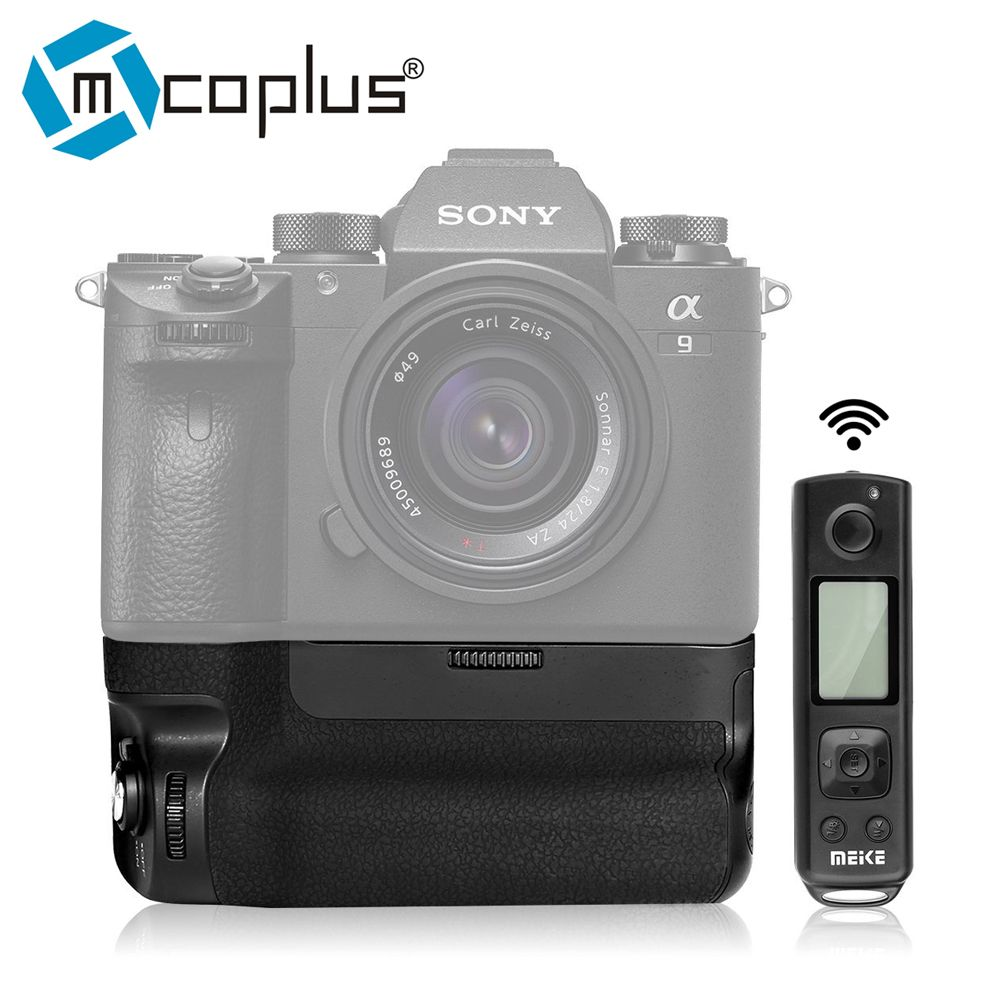 Mcoplus Meike MK-A9 Pro Battery Grip Built-in 2.4GHz Remote Controller Up to 100M to Control shooting Vertical-shooting Function