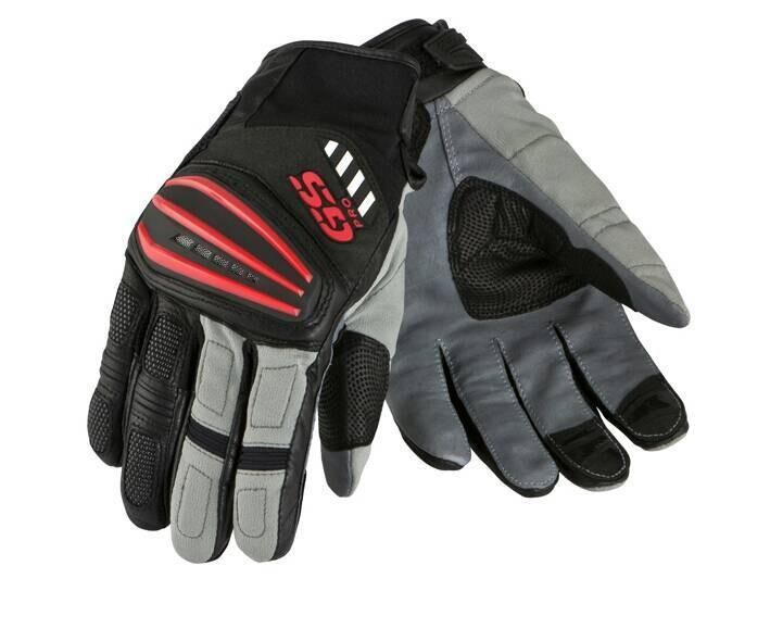 Motorcycle Motorrad Rally Black Red Leather Gloves FOR BMW GS1200 GS Cycling Gloves