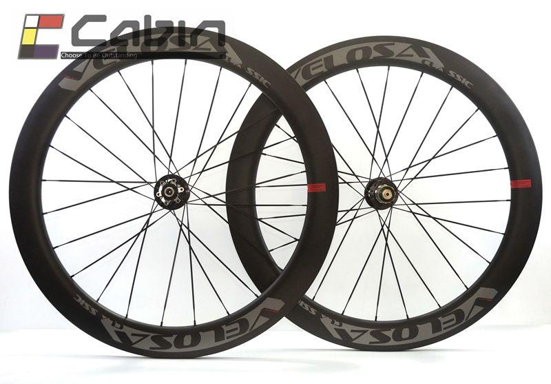 Velosa Disc 60 road disc brake wheelset. 700C road bike carbon wheel, disc brake, 60mm clincher/tubular cyclocross wheel
