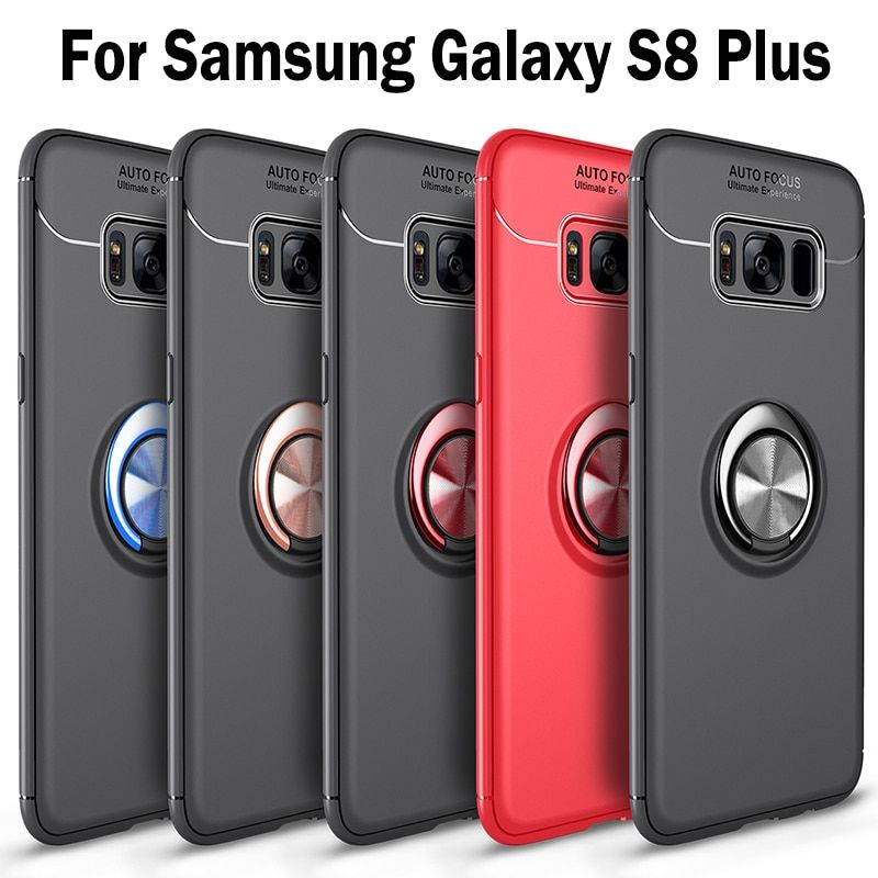 Case For Samsung g955fd Galaxy S8 plus SM G955FD G955F silicone phone bag for samsung SM-G955 black Pure color phone housing