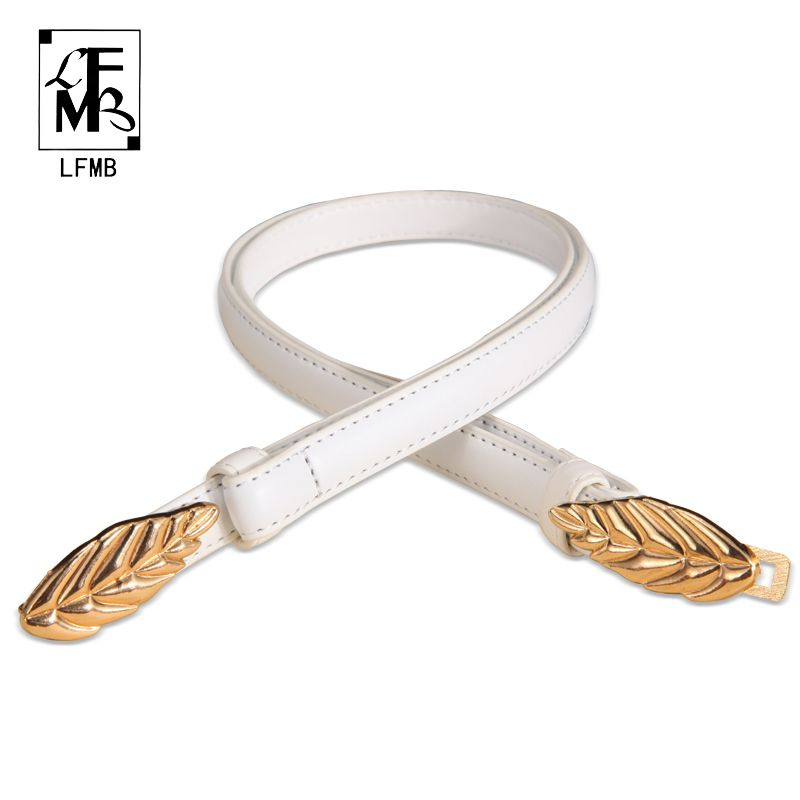 [LFMB] leather belt women women's strap high quality genuine leather genuine leather ceinture homme cuir veritable free shipping
