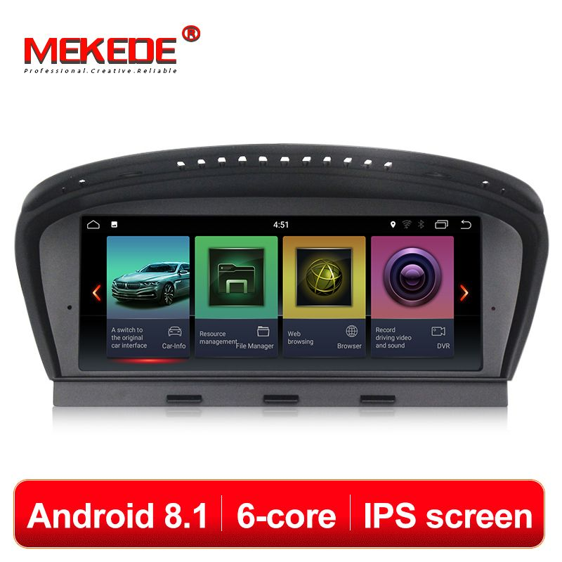 MEKEDE HD IPS ID7 PX6 6 kerne android 8.1 auto gps dvd multimedia player für BMW 5 Series E60 E61 E63 e64 E90 E91 E92 CCC CIC