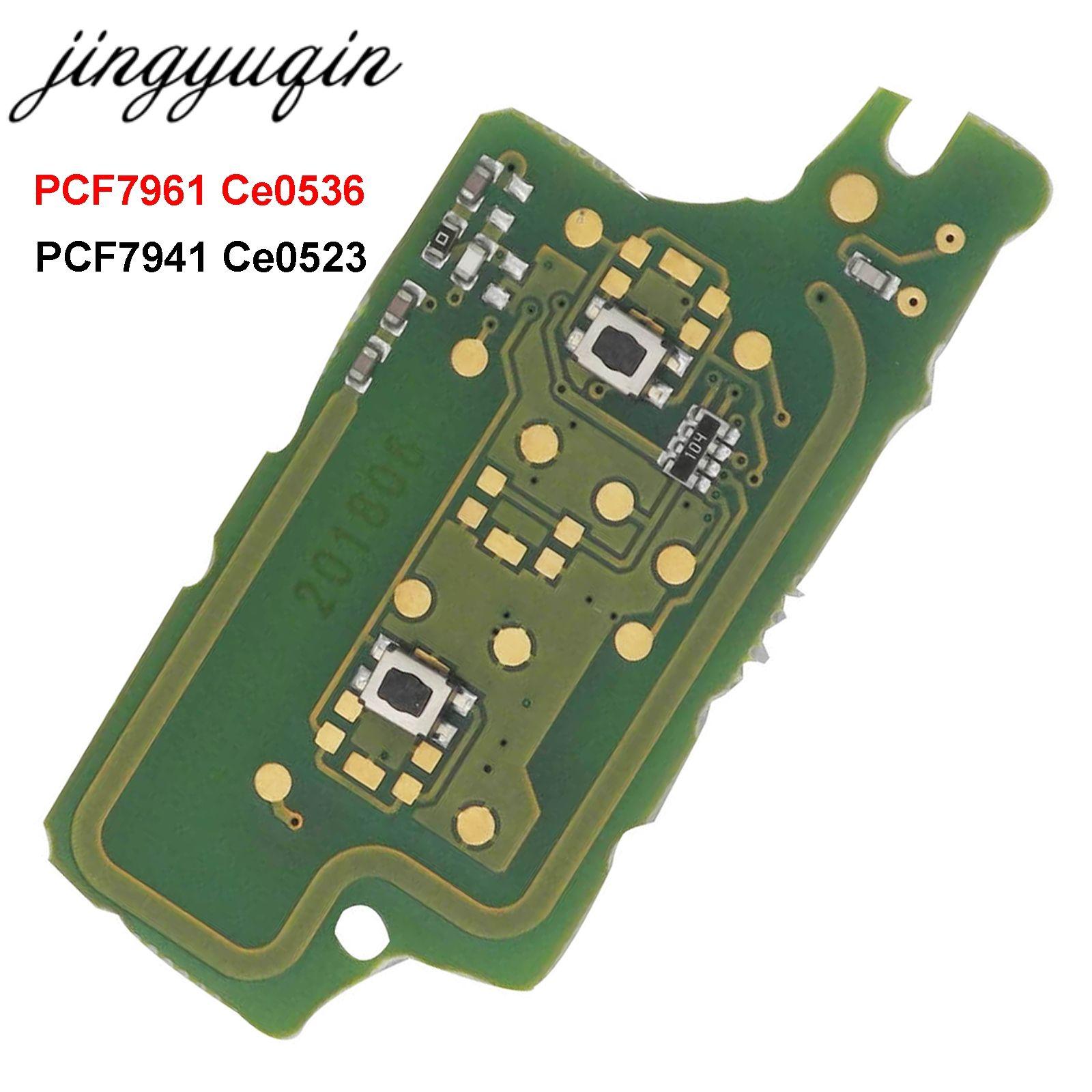 Jingyuqin 2B Fernbedienung Flip Auto Schlüssel Elektronische Bord Für Peugeot 307 308 408 407 207 Citroen C2 C3 C4 PICASSO 7961 7941 CE0536/523