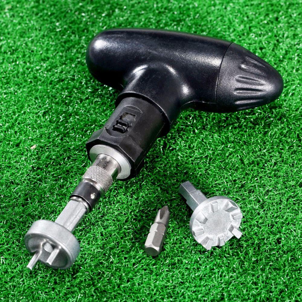 1 Unidades Golf Pico Mango de Trinquete Llave Pedacitos de la Herramienta de Golf Remover Extractor de Trinquete de Acero Zapato Cornamusas Práctico Club