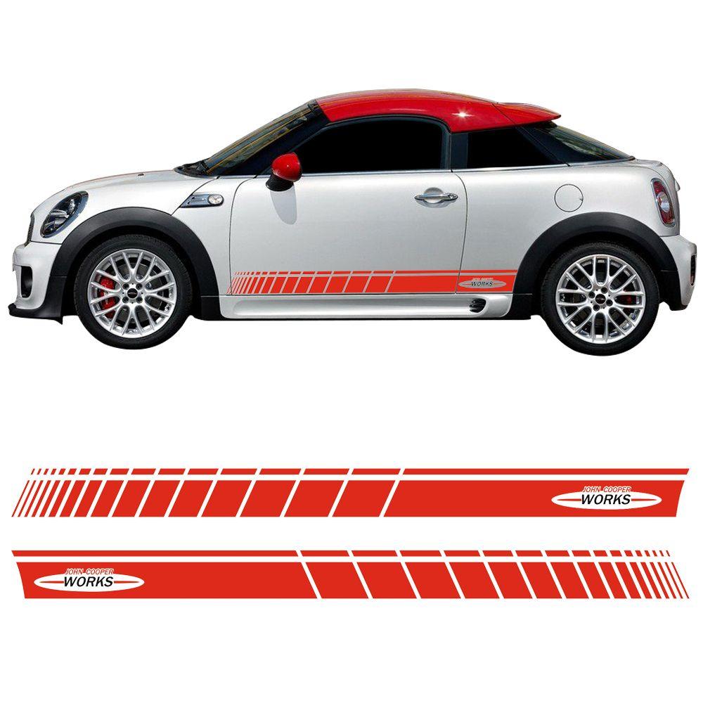 Autocollant graphique de jupe de rayure latérale de porte de style de voiture pour Mini Cooper Coupe R58 R57 F57 R59 Roadster R56 F56 JCW accessoires