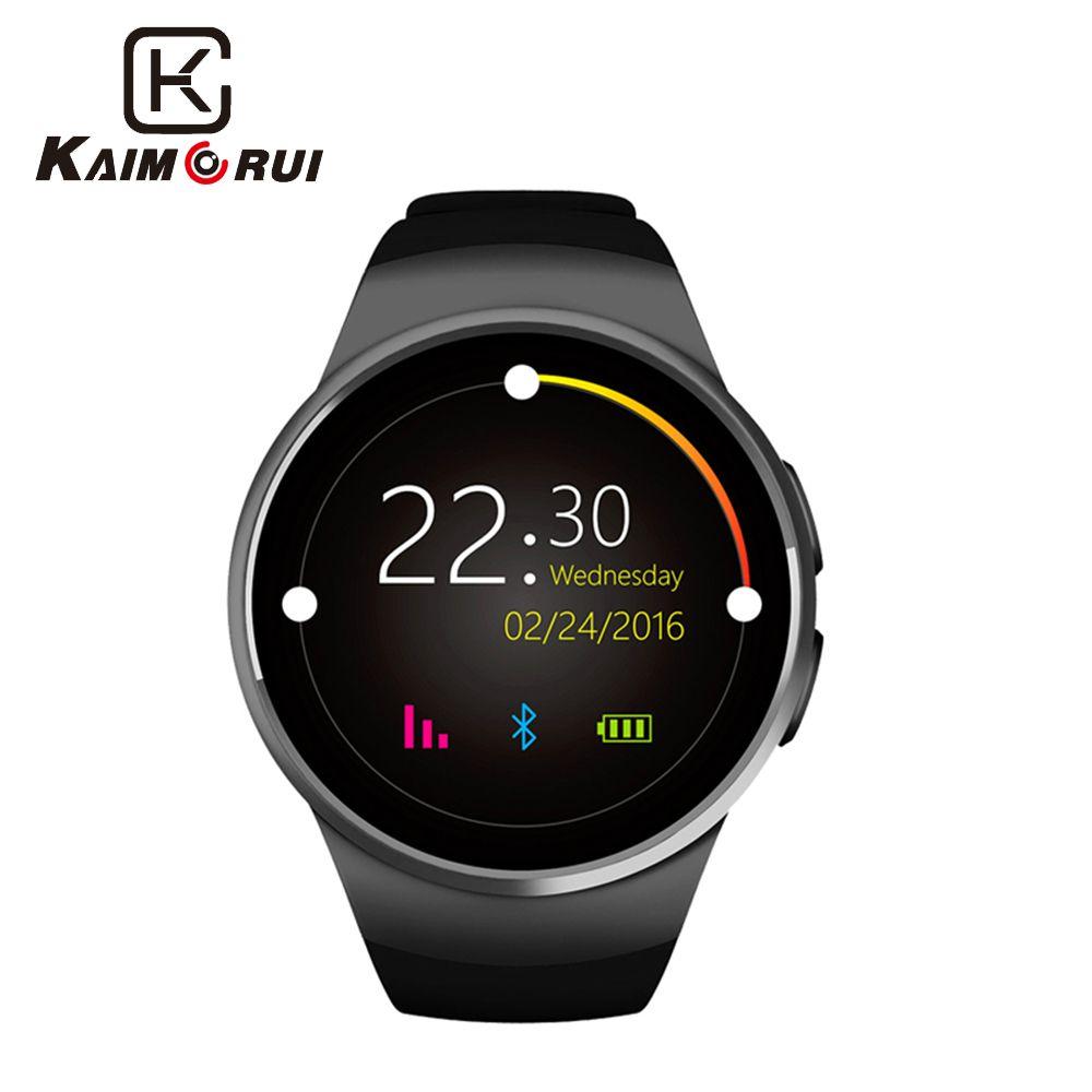 Kaimorui montre intelligente hommes KW18 passomètre moniteur fréquence cardiaque téléphone montre carte SIM pour IOS Android Bluetooth montre intelligente