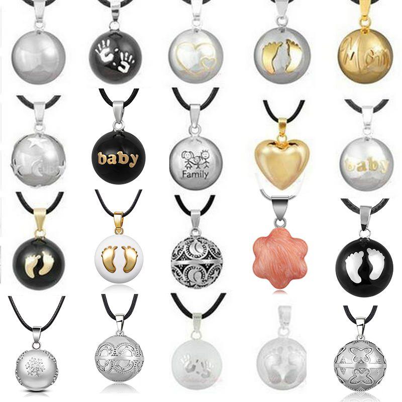 1PC pendentif collier grossesse carillon balle harmonie Bola pendentif collier souhaitant balle femmes enceintes cadeau bébé ange appelant