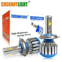 CNSUNNYLIGHT H4 H13 Salut/lo Voiture LED Phare Haute Puissance HB2 9003 9007/HB5 9004/HB1 40 W X2 Blanc 6000 K Ampoules Remplacer Bi Xénon Lampe