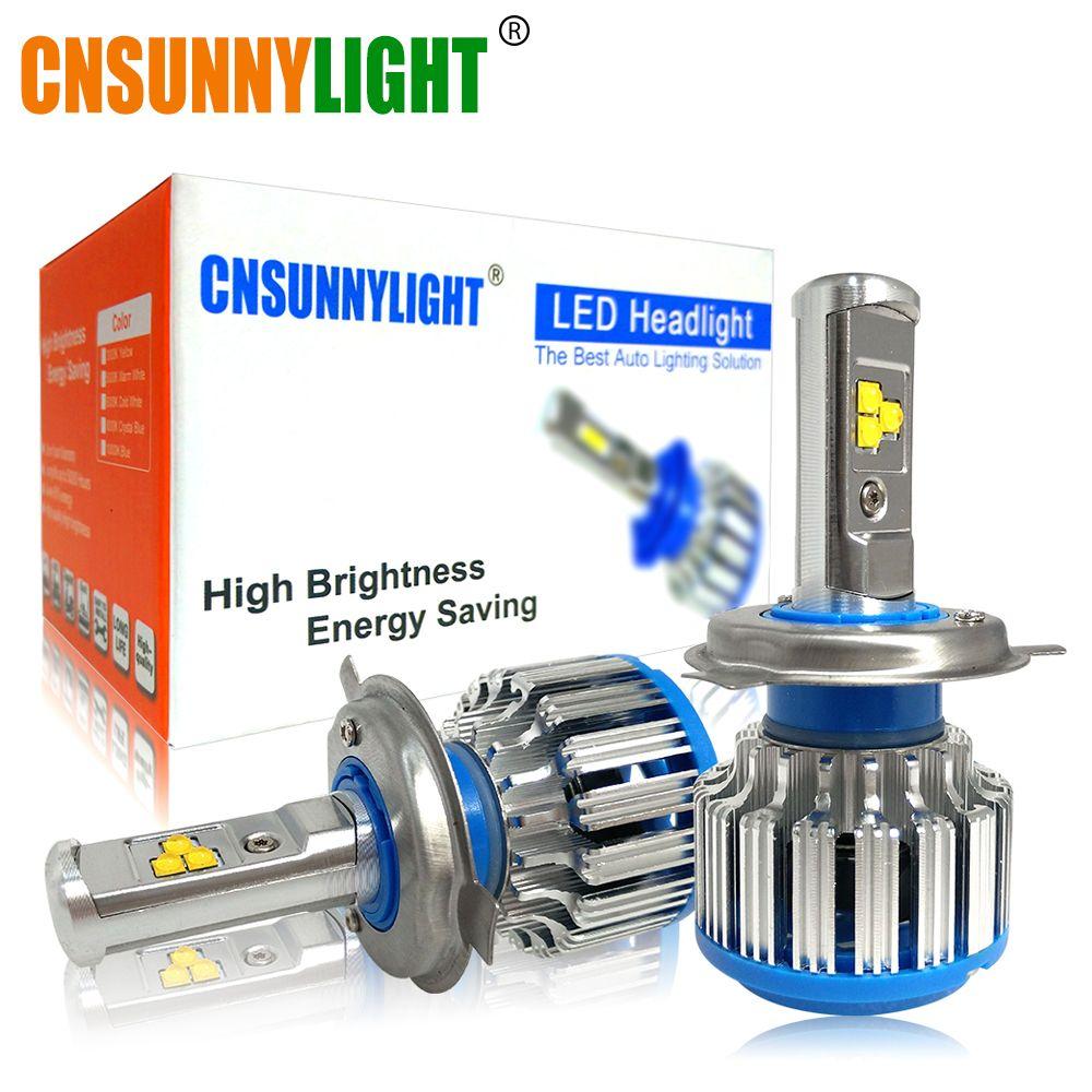 CNSUNNYLIGHT H4 Hi/lo H7 H11 9006 Car LED <font><b>Headlight</b></font> 9005 HB3 HB4 H1 H13 High Power Super White 6000K Bulbs Replace Original Lamp