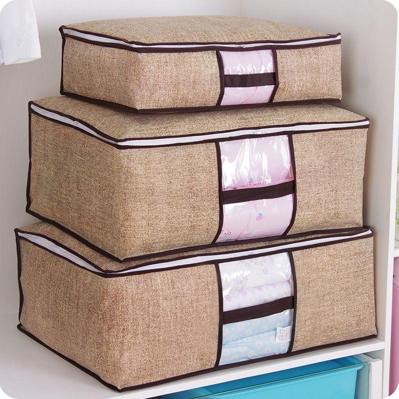 Nicht-Woven Familie Sparen Raum Organizador Bett Unter Schrank Lagerung Box Kleidung Teiler Veranstalter Quilt Tasche Halter Veranstalter 64505