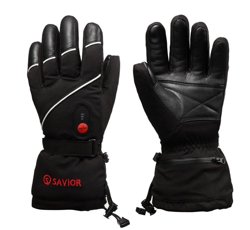 RETTER winter beheizte handschuhe skifahren motorrad angeln handschuhe elektrische heizung handschuhe schaffell leder finger echt wärme unisex