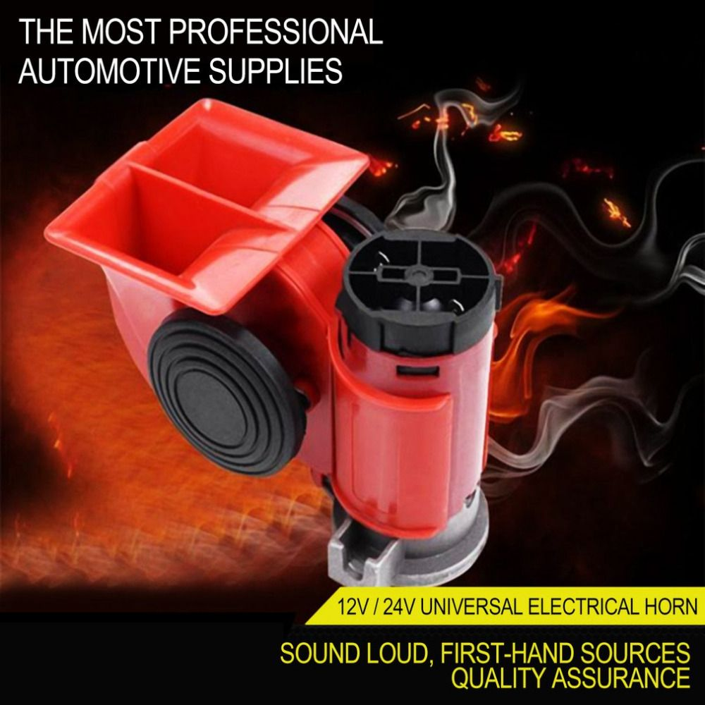 12V/24V Universal Snail Air Horn High Power Loud Car Electric Siren For Cars Truck Motorbike Vehicle Motorcycle Accessories