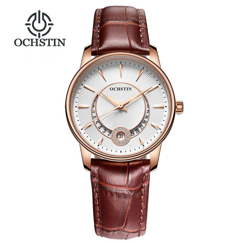 Для женщин часы марки ochstin модные кварц-часы Для женщин наручные часы Relojes Mujer платье женские часы Бизнес Montre Femme