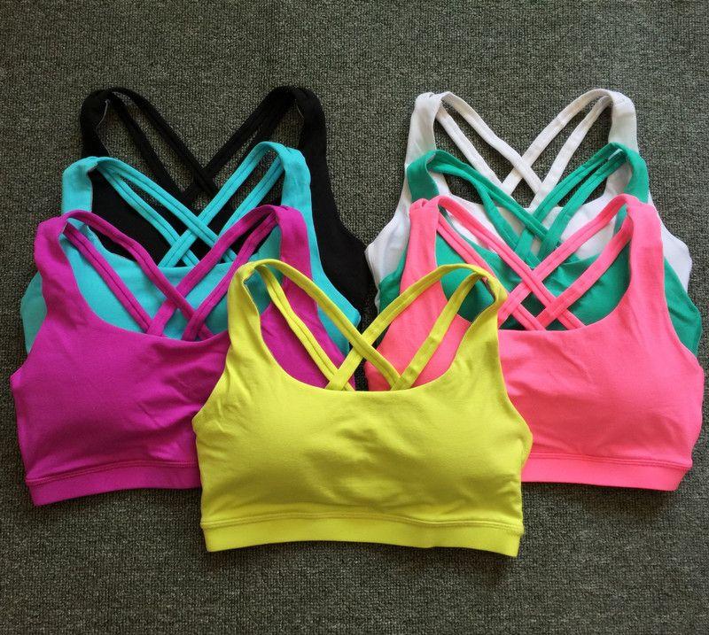 Eshtanga Brand yoga bra Women Tank Tops Fitness Shock Proof Quick Dry Backless Cross Tanks Push Up Crop Bra Size XS-XL