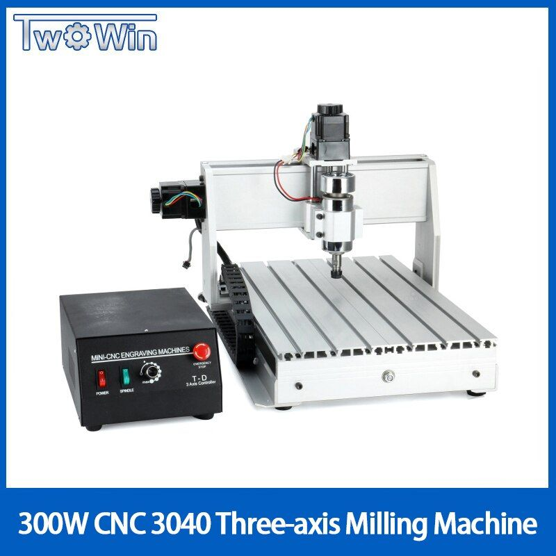 300 W Drei-achse Themen Schraube CNC Router Engraver Gravur Fräsen Bohren Schneiden Maschine CNC 3040 T-D