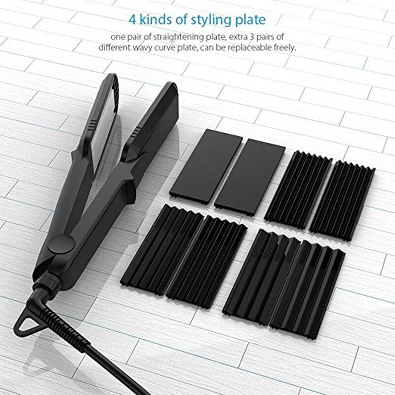 Corrugation Curling Iron Ceramic Hair Curler Rollers Crimper Waver Corrugated Wave Plate 4 in 1 Hair Straightener styling tools