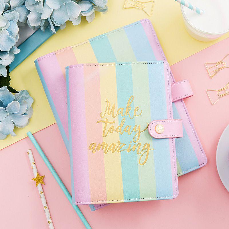 Lovedoki koreanischen regenbogen spirale binder notebook a5a6a7 Planer Organizer 2018 agenda niedlich tagebuch schreibwaren geschenk schulbedarf