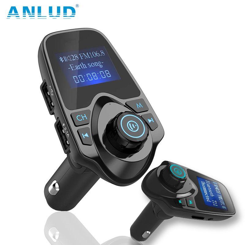 ANLUD Sans Fil Bluetooth De Voiture Kit Mains Libres Transmetteur FM De Voiture Mp3 Lecteur USB Chargeur de Téléphone Pour iPhone De Voiture Électronique