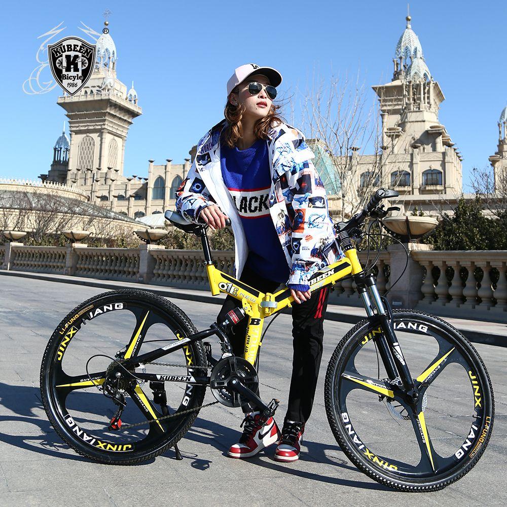 KUBEEN VTT vélos 21 vitesses en acier de 26 pouces double freins à disque vélos de route à vitesse variable vélo de course vélo BMX