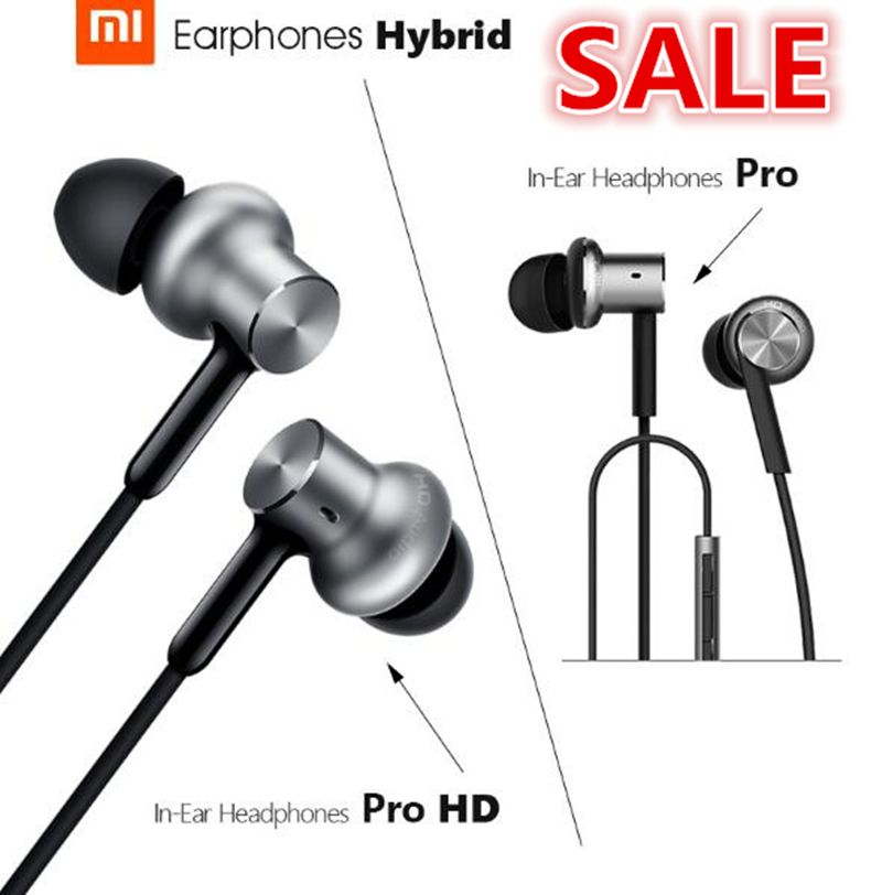 100% Original Xiao mi in-ear écouteur Pro HD cercle fer filaire Xiao mi casque suppression de bruit Xiao mi hybride Pro HD écouteur