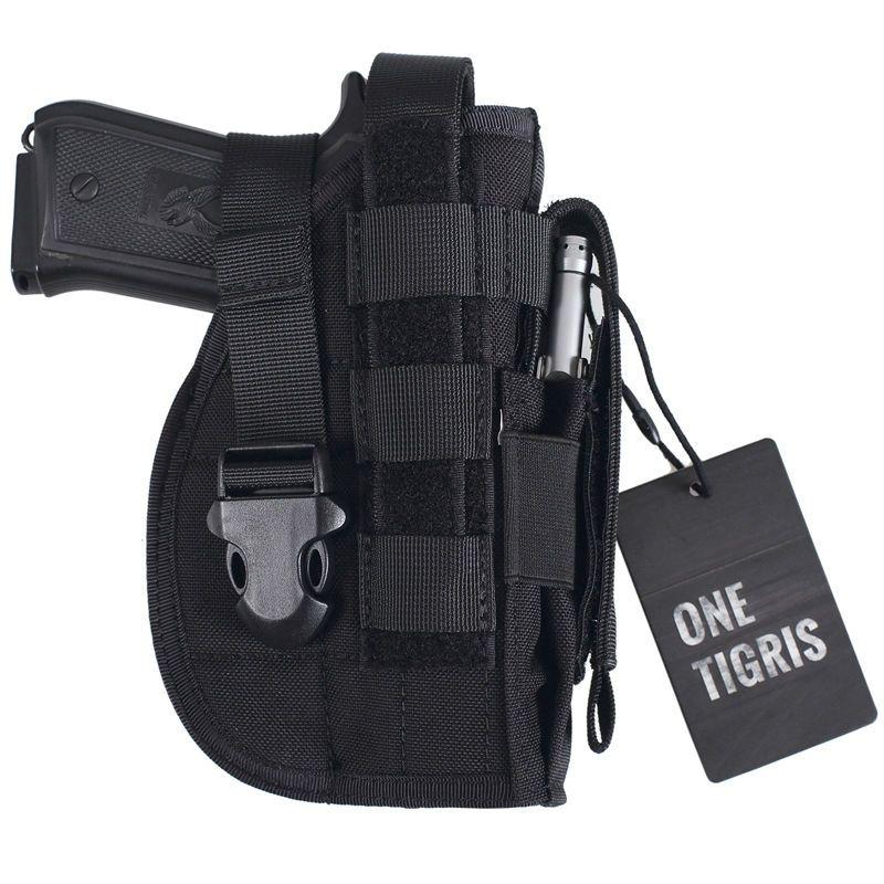 OneTigris Tactique Gun Holster Molle Modulaire Pistol Holster pour Droitier Tireurs 1911 45 92 96 Glock