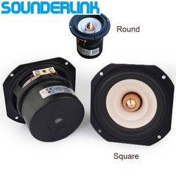 1 PCS Audio Labs Top end 4'' Full Range Speaker unit Aluminum Bullet 2 Layer Paper Cone for DIY home theater