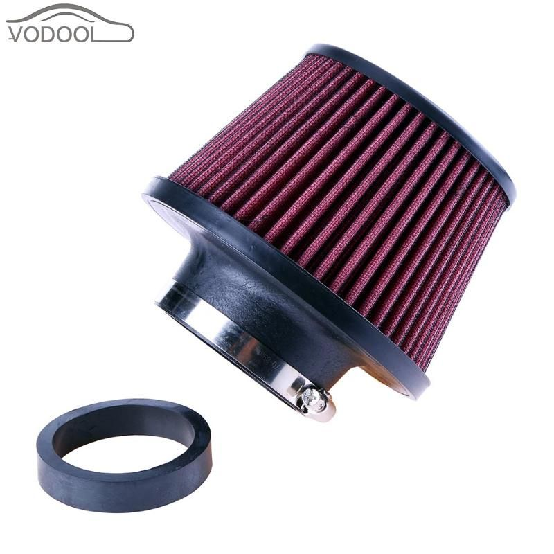 Universal Red Auto Intake Air Filter Car Refitting High Flow Cone Filter Fine Mesh Air Filter 65/76mm Automotive Accessories