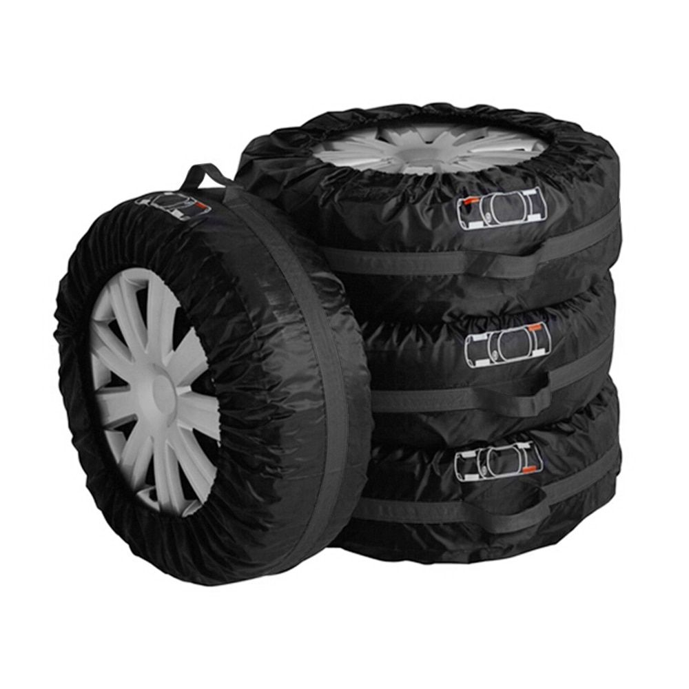 Waterproof Tire Storage Bag Tire Protector Car-Styling 4Pcs/Set Dust-proof Car Spare Tyre Cover S L Size For Summer Winter