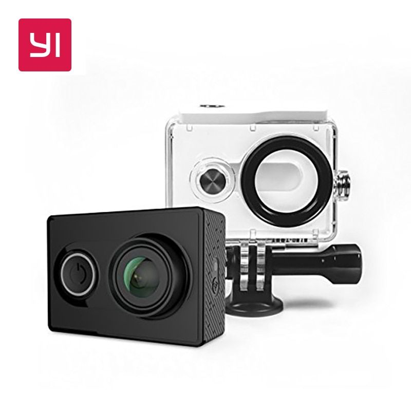 YI 1080P Action Camera With Waterproof Case Bundle Mini Sport Camera High-Resolution WiFi and Bluetooth Black White